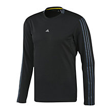 Buy Adidas Essentials 3 Stripe Long Sleeve T-Shirt, Black Online at johnlewis.com