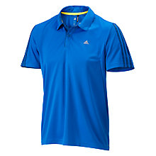 Buy Adidas Essentials 3 Stripe Polo Shirt, Blue Online at johnlewis.com