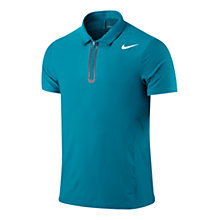 Buy Nike Court Men's Tennis Polo Shirt, Turquoise Online at johnlewis.com