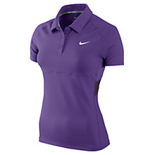 Buy Nike Tennis Women's UV Short Sleeve Polo, Violet Online at johnlewis.com