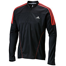 Buy Adidas Response 1/2 Zip Long Sleeve Top, Black/Red Online at johnlewis.com