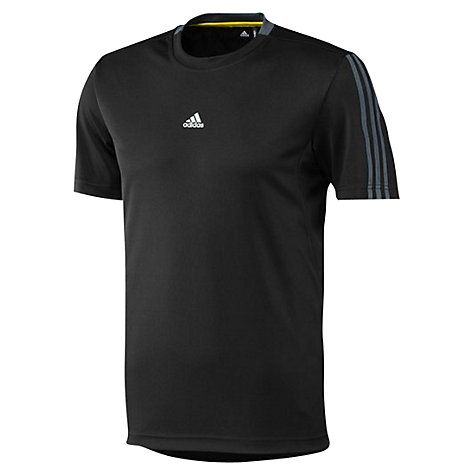 Buy Adidas Essentials 3 Stripe T-Shirt Online at johnlewis.com