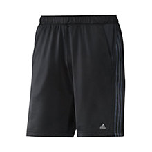 Buy Adidas Essentials 3 Stripe Knitted Shorts, Black Online at johnlewis.com