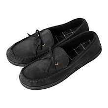 Buy Totes Suette Mocassin Slippers, Black Online at johnlewis.com