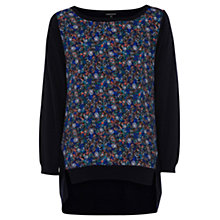 Buy Warehouse Floral Print Jumper, Multi Online at johnlewis.com