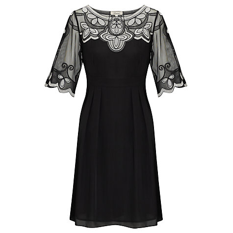 Buy Somerset by Alice Temperley Mesh Embroidered Dress, Black Online at johnlewis.com