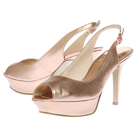 Buy Nine West JustSmile Patent Peep-Toe Slingback Sandals Online at johnlewis.com
