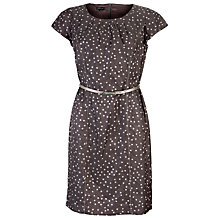 Buy Gerry Weber Crinkle Spot Dress, Grey Print Online at johnlewis.com
