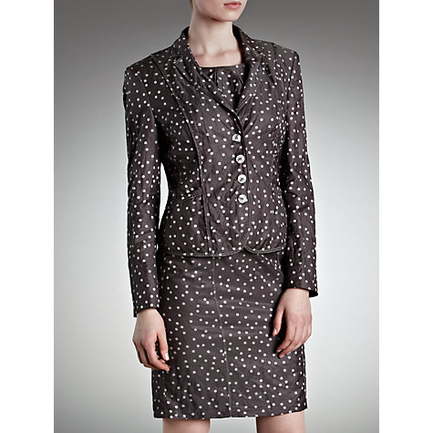 Buy Gerry Weber Crinkle Spot Jacket, Grey Print Online at johnlewis.com