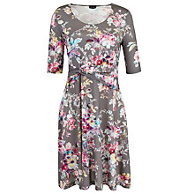 Buy Gerry Weber Jersey Floral Print Dress, Grey Multi Online at johnlewis.com