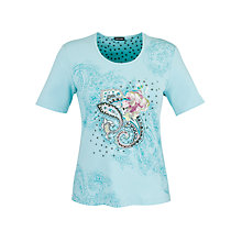 Buy Gerry Weber Floral Embellished T-Shirt, Ice Blue Online at johnlewis.com