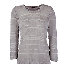 Buy Gerry Weber Ladder Knitted Jumper, Silver Online at johnlewis.com