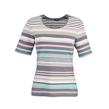 Buy Gerry Weber Stripe T-Shirt, Grey/Blue Online at johnlewis.com