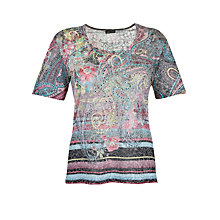 Buy Gerry Weber Burn Out Print T-Shirt, Grey Multi Online at johnlewis.com