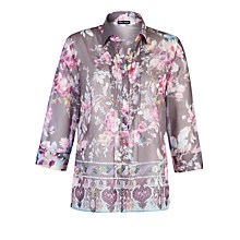 Buy Gerry Weber Floral Blouse, Grey Multi Online at johnlewis.com