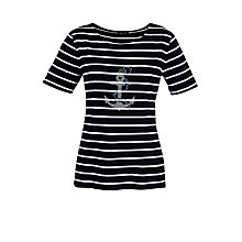 Buy Gerry Weber Anchor Embellished T-Shirt, Navy Online at johnlewis.com