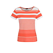 Buy Gerry Weber Classic Stripe T-Shirt, Ecru/Lobster Online at johnlewis.com