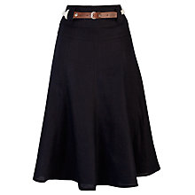 Buy Gerry Weber Linen Panelled Skirt, Navy Online at johnlewis.com