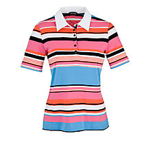 Buy Gerry Weber Jersey Striped Polo Shirt, Blue/Red Online at johnlewis.com
