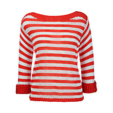 Buy Gerry Weber Ribbon Striped Boxy Jumper Online at johnlewis.com