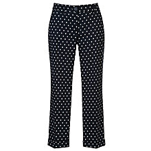 Buy Gerry Weber Spotted Cropped Trousers, Navy/White Online at johnlewis.com