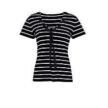 Buy Gerry Weber Stripe T-Shirt, Navy Online at johnlewis.com
