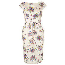 Buy People Tree Ellie Boat Neck Bouquet Print Dress, Unbleached Online at johnlewis.com