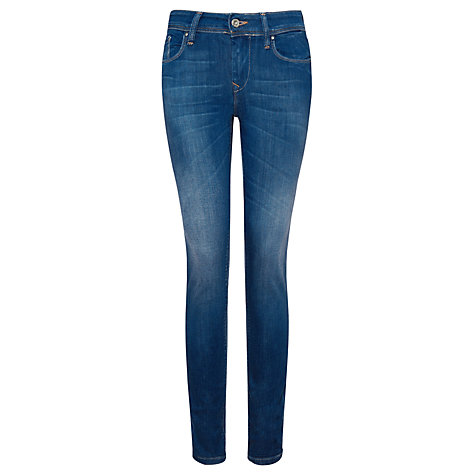 Buy Salsa Jeans Colette Mid Rise Soft Skinny Jeans, Light Blue Online at johnlewis.com