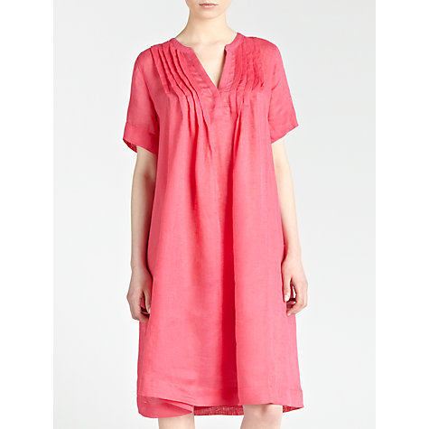 Buy John Lewis Pleated Linen Gauze Dress Online at johnlewis.com