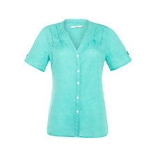 Buy John Lewis Linen Inverted Pleat Detail Shirt Online at johnlewis.com
