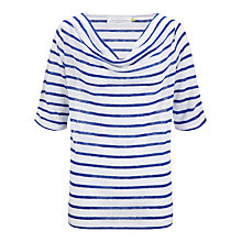 Buy Collection WEEKEND by John Lewis Linen Stripe Cowl Neck Top Online at johnlewis.com