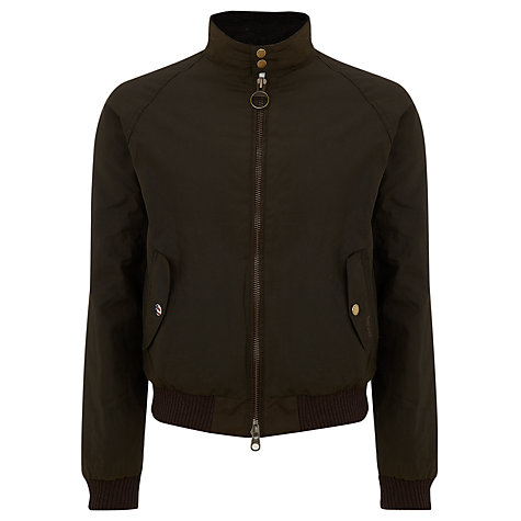 Buy Barbour Merchant Waxed Jacket, Brown Online at johnlewis.com
