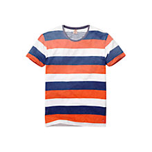 Buy Scotch & Soda Print Stripe T-Shirt Online at johnlewis.com