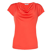 Buy L.K. Bennett Mandi Cowl Neck Top, Carnelian Online at johnlewis.com