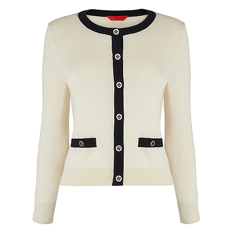 Buy L.K. Bennett Bay Contrast Trim Cardigan Online at johnlewis.com