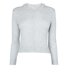 Buy L.K. Bennett Margot Beaded Cardigan, Crystal Online at johnlewis.com