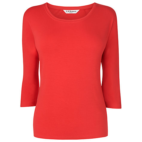 Buy L.K. Bennett Batwing Top, Berry Online at johnlewis.com
