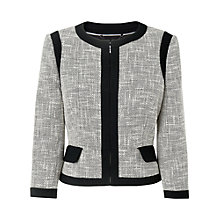 Buy L.K. Bennett Allina Tweed Jacket, White Online at johnlewis.com