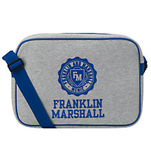 Buy Franklin & Marshall Fleece Bag, Grey/blue Online at johnlewis.com