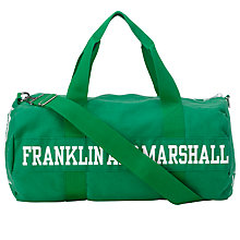 Buy Franklin & Marshall Duffel Bag, Green Online at johnlewis.com