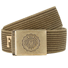 Buy Franklin & Marshall Canvas Belt, Khaki Online at johnlewis.com