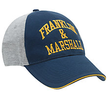 Buy Franklin & Marshall Fleece Embroidered Baseball Cap, Navy/Yellow/Grey Online at johnlewis.com