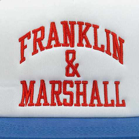 Buy Franklin & Marshall Logo Baseball Cap, Blue/White/Red Online at johnlewis.com