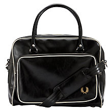 Buy Fred Perry Hold Bag, Black Online at johnlewis.com