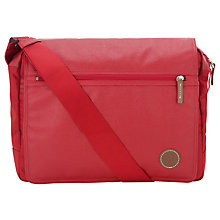 Buy Fred Perry Coated Nylon Shoulder Bag, Red Online at johnlewis.com