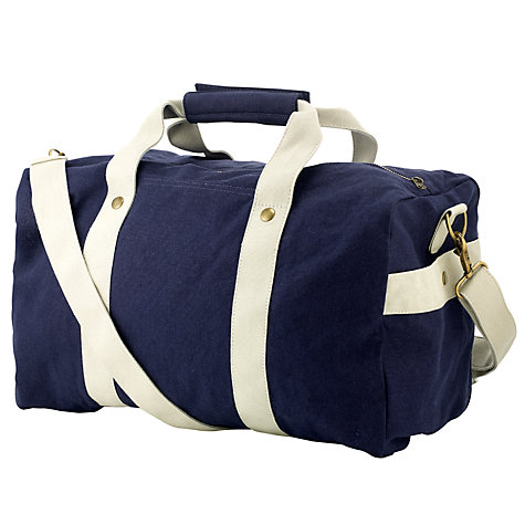 Buy Kin by John Lewis Canvas Gym Holdall, Navy Online at johnlewis.com