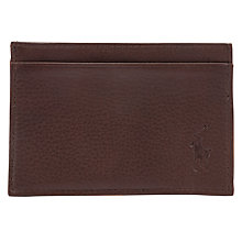 Buy Polo Ralph Lauren Slim Card Case, Brown Online at johnlewis.com