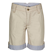 Buy Hackett Boys' London Rolled Hem Shorts, Stone Online at johnlewis.com