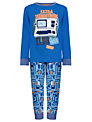 John Lewis Science Museum Collection Retro Space Computer Pyjamas, Blue
