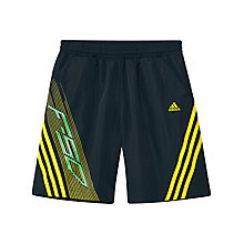 Buy Adidas F50 Boy's Shorts, Grey/Yellow Online at johnlewis.com